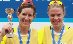 Katherine Grainger and Anna Watkins with trophies