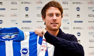 Wayne Bridge with a Brighton & Hove Albion shirt