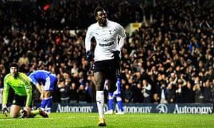 Emmanuel Adebayor scored 17 Premier League goals for Tottenham while on loan