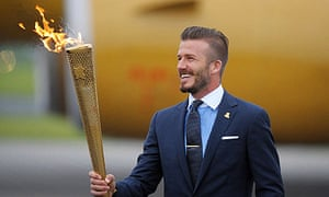 Old flame: David Beckham has been a visible supporter of the London 2012 bid team since 2005