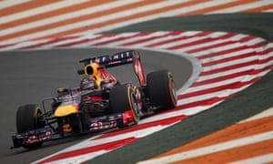 Sebastian Vettel is closing in on the drivers' title at the Indian Grand Prix in a safer erav