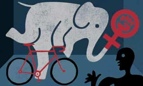 Elephant on Bicycle
