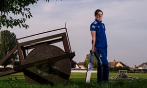 England's Ashes-winning captain Charlotte Edwards at Ramsey cricket club, where she learned to play