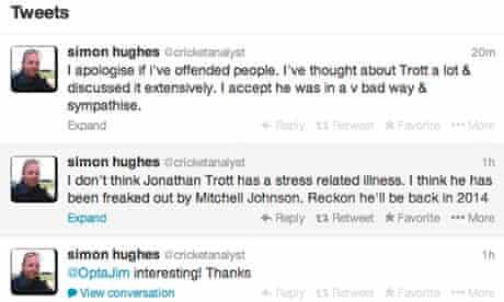 Simon Hughes' tweet