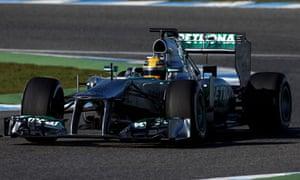 Lewis Hamilton is testing for Mercedes