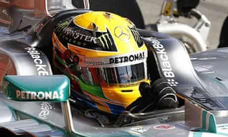 Lewis Hamilton F1 Testing - Barcelona