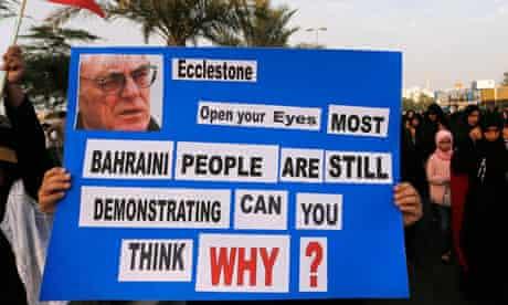 Bahrain F1 protest