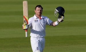 Ian Bell celebrates his century during the fourth Ashes Test