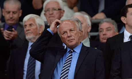 The FA's Greg Dyke in the stands during the England versus Moldova World Cup qualifier at Wembley