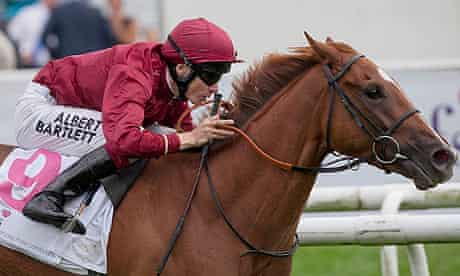 Jamie Spencer and The Lark winning the Park Hill Stakes at Doncaster