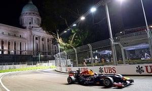 Red Bull driver Sebastian Vettel of Germ