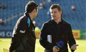 Brian O'Driscoll, right, is now making an impact in front of the camera in a different way