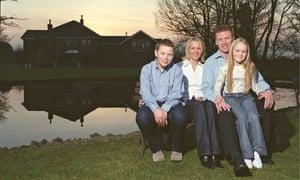 At home with David Moyes in 2003