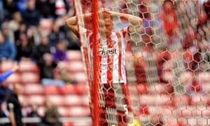 Sunderland's Wes Brown scored in the Premier League against Everton at the Stadium of Light