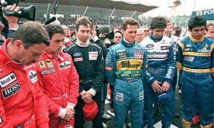 Formula One drivers observe a minute of silence to