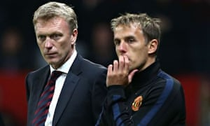 Phil Neville was brought to Old Trafford as a coach by David Moyes