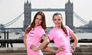 Melanie C and Victoria Pendleton