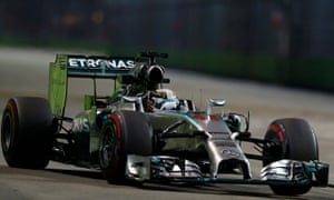 Lewis Hamilton was fastest in the second practice session for the Singapore Grand Prix