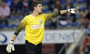 Thibaut Courtois mad his mark at Racing Genk as a teenager and was picked up by Chelsea as a 19-year