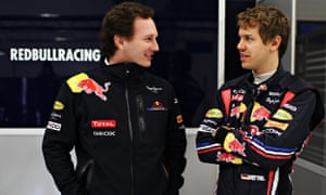 Christian Horner, left, said Sebastian Vettel was unhappy with the direction F1 had gone in 2014