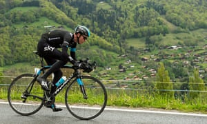 Sky's Chris Froome competing in the 2014 Tour de Romandie, during which he was officially cleared to