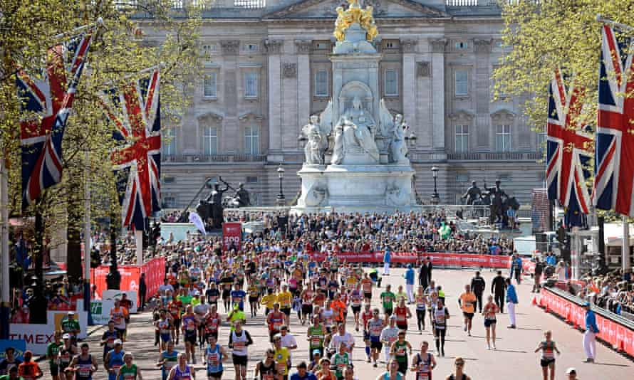 What everyone taking part in the London Marathon wants to be part of – the finish at the Mall