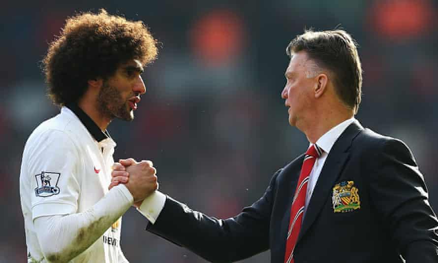 Marouane-Fellaini-Louis-van-Gaal-Manchester United