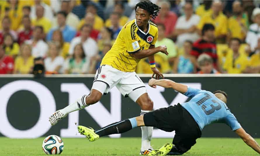 Juan Cuadrado in action for Colombia