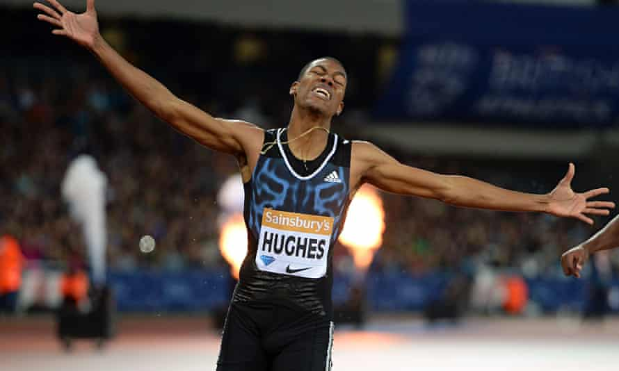 Britain's Zharnel Hughes eased to victory in the 200m at the Anniversary Games in London