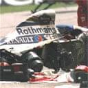 Ayrton Senna's wrecked car