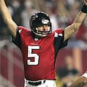 Morten Andersen celebrates the kick which made him the NFL's all-time leading scorer