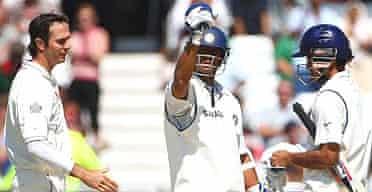 Michael Vaughan congratulates India's batsmen