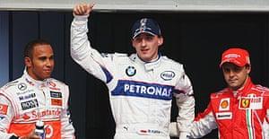 Lewis Hamilton, Robert Kubica and Felipe Massa