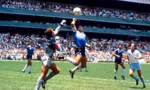 Diego Maradona and his 'Hand of God' goal in Mexico City