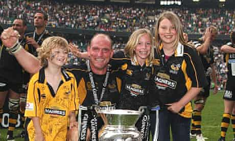 Lawrence Dallglio and his children