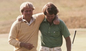 Jack Nicklaus and Tom Watson at the 1977 British Open