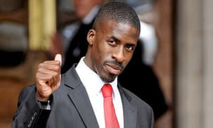 Dwain Chambers arrives at the high court. Photograph: Anthony Devlin/PA