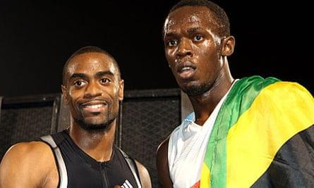 Tyson Gay and Usain Bolt