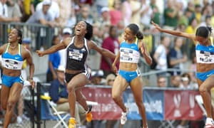 Olympic trials ... a 100m final in Eugene, Oregon, in June 2008