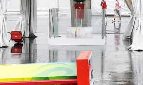 Storm hits the Olympic equestrianism venue