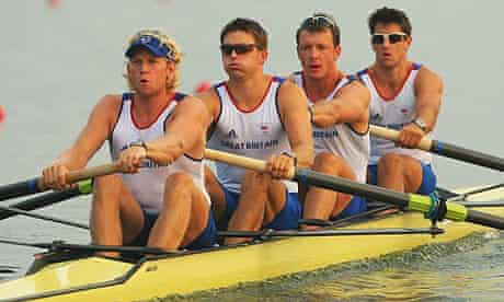 Tom James, Steve Williams, Pete Reed and Andrew Triggs Hodge of Great Britain's rowing four