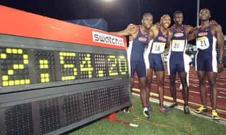 The 1998 American 4x400m relay team