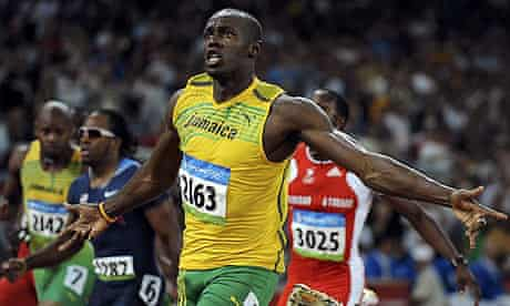 Usain Bolt storms clear to win the men's 100m final