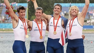 Tom James, Rowers Steve Williams, Pete Reed and Andrew Triggs Hodge
