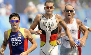 Spain's Javier Gomez and Germany's Jan Frodeno