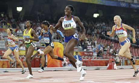 Christine Ohuruogu crosses the line