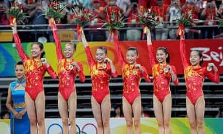 The Chinese women's gymnastics team