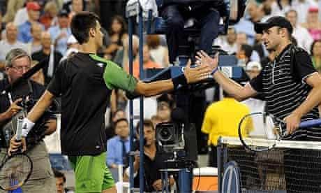 Novak Djokovic and Andy Roddick