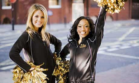 Cheerleaders from the New Orleans Saints
