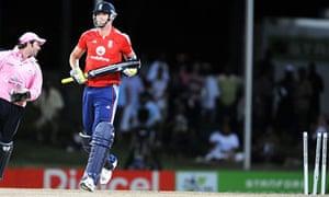 Kevin Pietersen loses his wicket